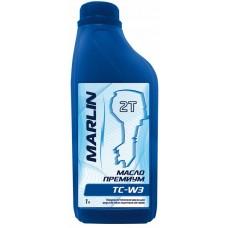 Моторное масло MARLIN Премиум 2Т, TC-W3 (1 литр)/полусинт.